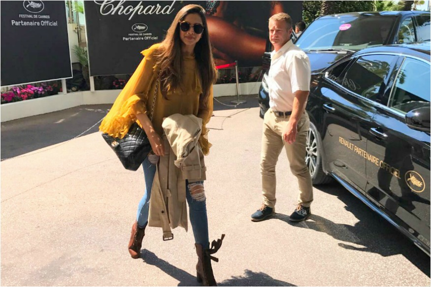 Deepika Padukone arrives at cannes to attend 70th Cannes Film Festival