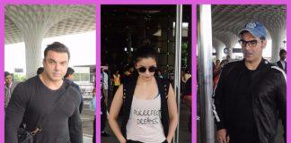 Arbaaz Khan, Sohail Khan and Alia Bhatt make a fresh appearance at the airport