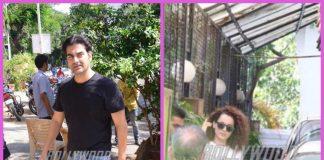 Kangana Ranaut  and Arbaaz Khan snapped on a casual outing in Mumbai