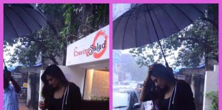 Celebrity Street Style Photos – Athiya Shetty snapped enjoying a rainy day in Mumbai