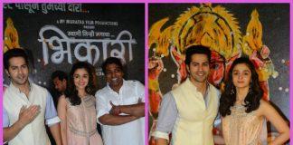 Varun Dhawan and Alia Bhatt launch music of Marathi film Bhikari