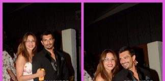 Bipasha Basu and Karan Singh Grover show off their monkey love at a restaurant