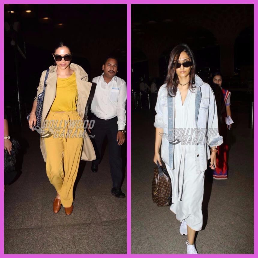 Sonam Kapoor and Deepika Padukone make a stylish appearance at the airport