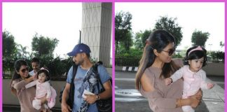 Harbhajan Singh  and Geeta Basra's daughter grabs all the attention at Mumbai airport