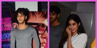Ishaan Khattar and Jhanvi Kapoor catch special screening of Baby Driver together