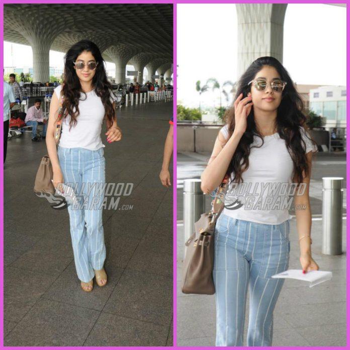 Jhanvi Kapoor airport