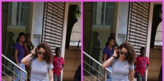 Photos – Kangana Ranaut snapped post sword-fighting session for Manikarnika