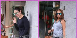 Kareena Kapoor Khan and Amrita Arora snapped outside a salon