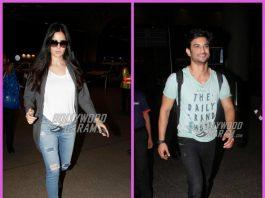 PHOTOS – Sushant Singh Rajput, Katrina Kaif make a stylish appearance at airport!