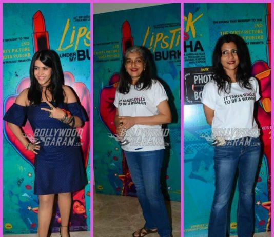 Konkana Sen Sharma, Ratna Pathak Shah promote Lipstick Under My Burkha – Photos