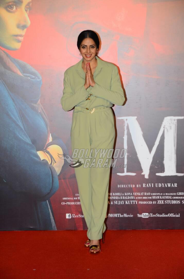 MOM trailer launch with Sridevi and her daughters