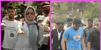 Pooja Bhatt and Jackky Bhagnani clean up Chimbai Beach in Mumbai