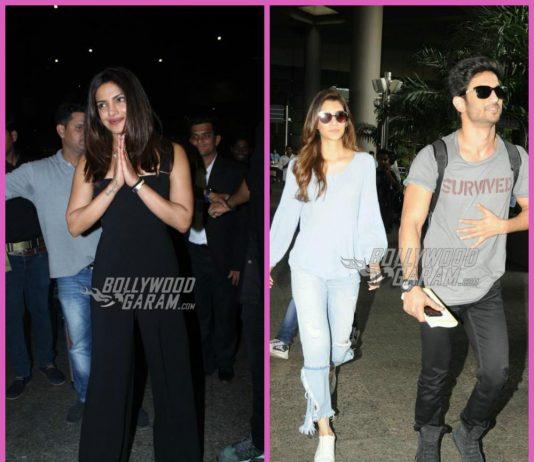 Photos – Sushant Singh Rajput, Kriti Sanon and Priyanka Chopra catch flights at Mumbai airport
