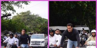 Salman Khan enjoys riding his e-cycle on the streets of Mumbai