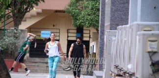 Shahid Kapoor and Mira Rajput workout together at the gym