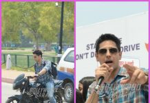 Sidharth Malhotra shoots for Aiyaari and promotes road awareness and safety campaign