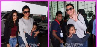 Sushmita Sen photographed with her daughters at Mumbai airport