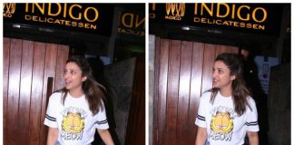 Parineeti Chopra grabs lunch at Indigo Deli in a bright Garfield Tee! – Photos