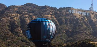Makers of Rajinikanth's 2.0 launch hot air ballon with official posters from the Hollywood sign