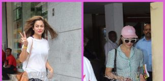 Amrita Arora and Jacqueline Fernandez photographed on a busy day