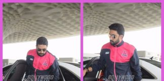 Abhishek Bachchan makes a stylish entry at Mumbai airport as he leaves for Jaipur – Photos