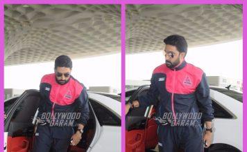 Abhishek Bachchan makes a stylish entry at Mumbai airport as he leaves for Jaipur – Photos