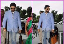 Abhishek Bachchan photographed leaving for Chennai at the airport