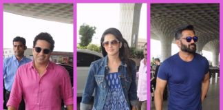 Sunny Leone, Shilpa Shetty, Suniel Shetty and Sachin Tendulkar make a stylish airport appearance