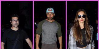 Malaika Arora, Arbaaz Khan and Sohail Khan return from the US