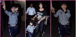 Ayesha Takia's son Mikail Azmi enjoys posing for cameras at Mumbai airport! – Photos