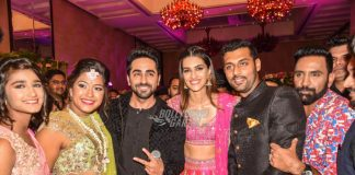 Kriti Sanon and Ayushmann Khurrana gatecrash an engagement ceremony to promote Bareilli Ki Barfi