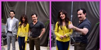 Saif Ali Khan, Chitrangada Singh and Rohan Mehra photographed on location of Bazaar