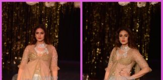 Huma Qureshi  turns muse for Rina Dhaka at India Couture Week