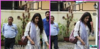 Jhanvi Kapoor photographed in ethnic wear on a rainy day