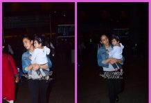 Mira Rajput photographed at airport with daughter Misha