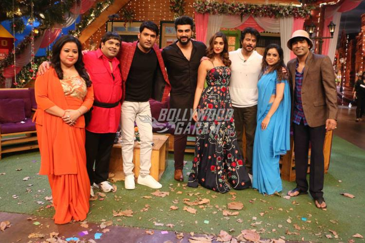 Lead actors of Mubarakan promotes on sets of The Kapil