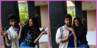 Arjun Kapoor and Athiya Shetty promote Mubarakan on a rainy day