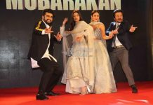 Team Mubarakan promotes film in a sangeet ceremony