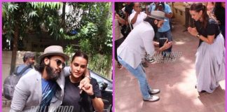 Ranveer Singh photographed with Neha Dhupia for talk show shoot