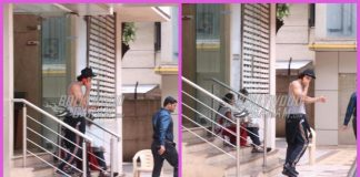 Ranbir Kapoor photographed outside a dance studio