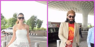 Ranveer Singh and Urvashi Rautela make a dazzling appearance at Mumbai airport