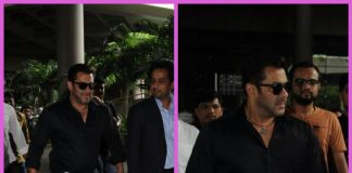 Salman Khan makes a dazzling appearance at Mumbai airport