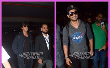 Shah Rukh Khan and Sushant Singh Rajput photographed at airport as they return from US