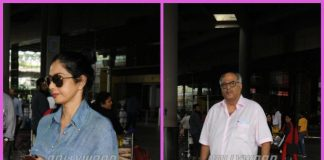 Sridevi and Boney Kapoor photographed on their travel schedule at the airport