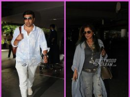 Sunny Deol and Dimple Kapadia make a stylish appearance at the airport