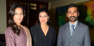 Kajol, Dhanush and Soundarya promote VIP 2 in Mumbai – Photos