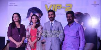 Dhanush and Kajol interact at VIP 2 PC in Delhi