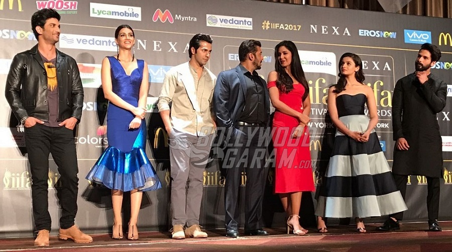 Varun Dhawan, Alia Bhatt And Sonakshi Sinha At IIFA Awards Green Carpet