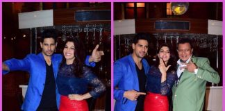 Jacqueline Fernandez and Sidharth Malhotra promote A Gentleman on the sets of The Drama Company