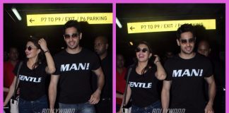 Jacqueline Fernandez and Sidharth Malhotra promote their film A Gentleman at airport